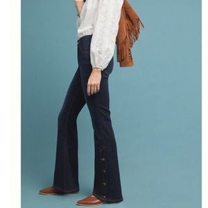 Pilcro Anthro Button High Rise Bootcut Jeans 26